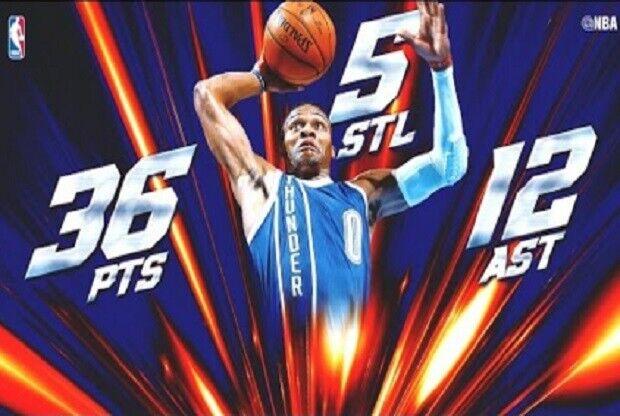 El recital de Russell Westbrook ante Phoenix Suns