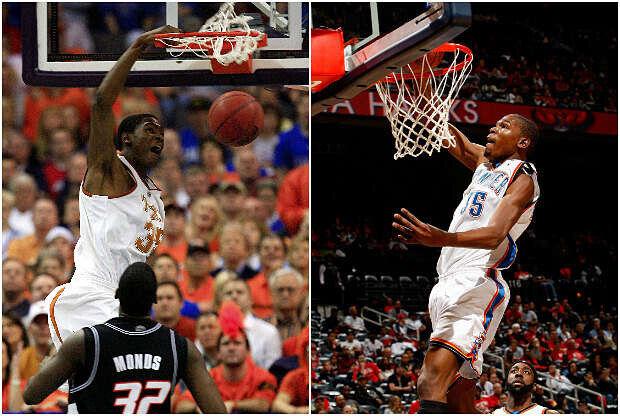 Kevin Durant, en la NCAA y la NBA