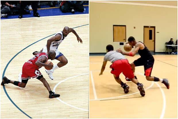 Michael Jordan y el imitador de la NBA