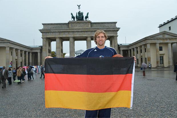 Dirk Nowitzki , jugador Sel. Alemania