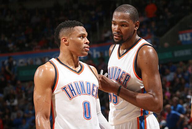 Durant y Westbrook, la dupla maravilla