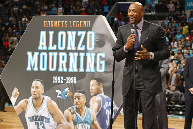 Alonzo Mourning, leyenda de Charlotte Hornets