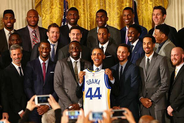 Barack Obama y Golden State Warriors en la Casa Blanca
