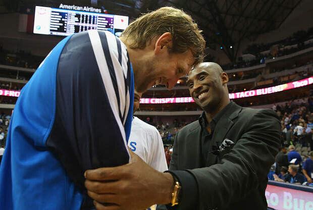 Kobe Bryant y Dirk Nowitzki