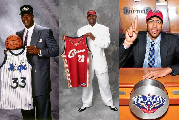 Shaquille O'Neal, LeBron James y Anthony Davis