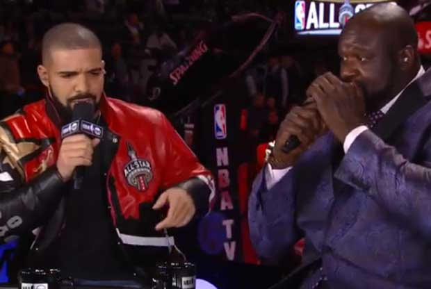 Drake canta junto a Shaquille O'Neal