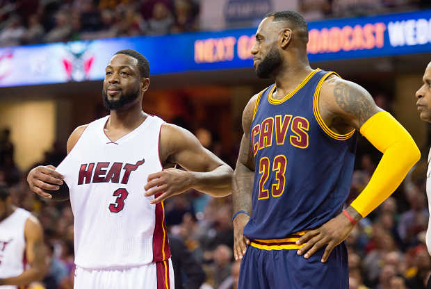 Dwyane Wade y LeBron James