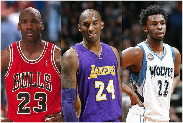 Michael Jordan, Kobe Bryant y Andrew Wiggins, tres generaciones