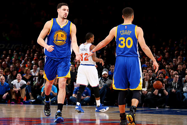 Klay Thompson y Stephen Curry