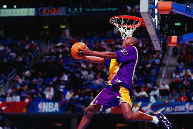 Kobe Bryant, en un concurso de mates del All-Star