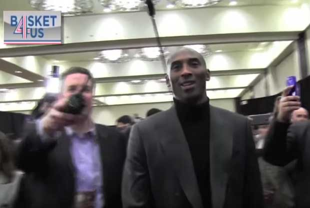 Kobe Bryant, en el Media Day del All-Star de Toronto