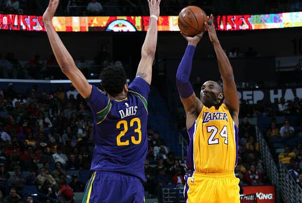 Kobe Bryant y Anthony Davis cara a cara