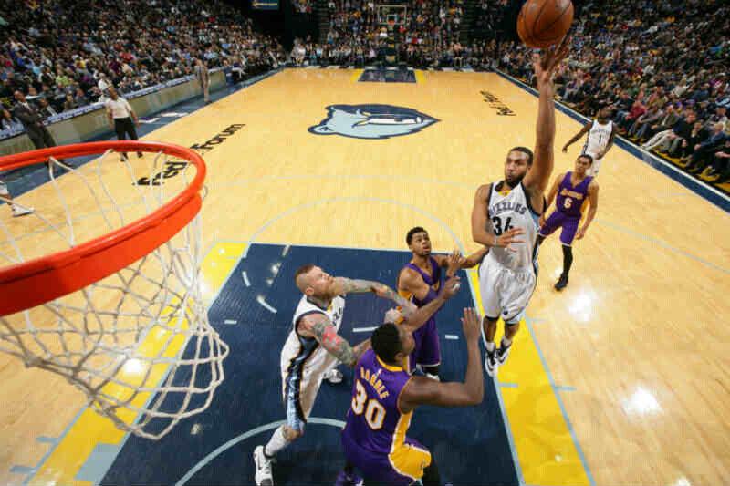 Memphis Grizzlies contra Los Angeles Lakers