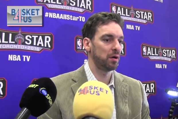 Pau Gasol atiende a la prensa en el Media Day del All-Star