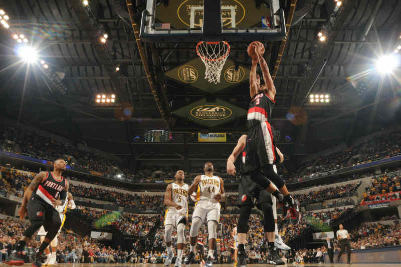 Portland Trail Blazers contra Indiana Pacers