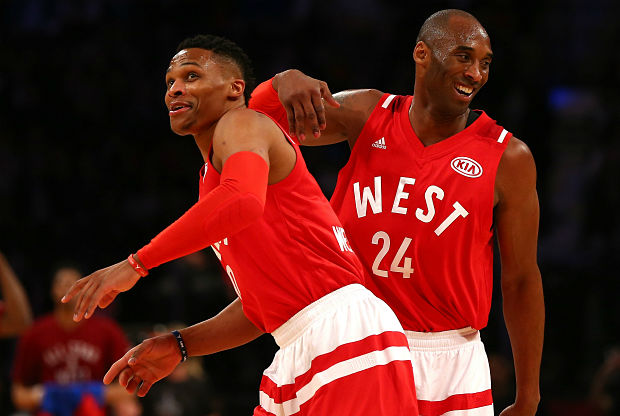 Russell Westbrook y Kobe Bryant en el All-Star