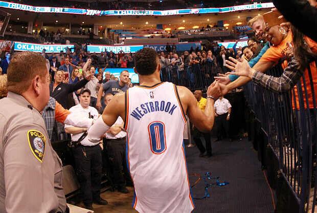 Russell Westbrook, jugador de Oklahoma City Thunder