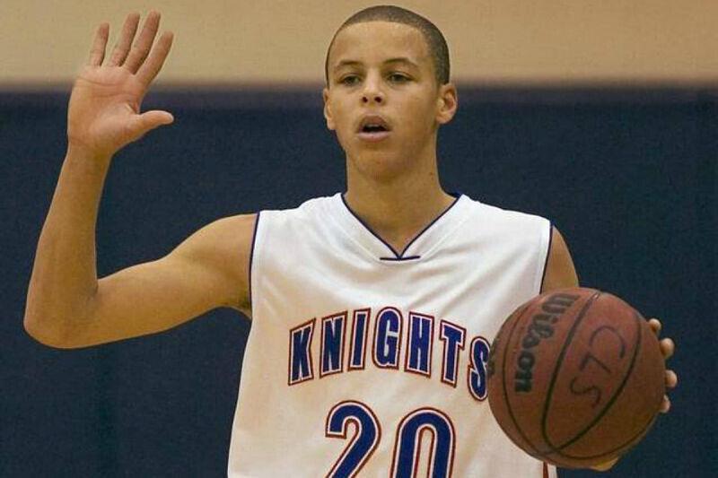 Stephen Curry en el instituto