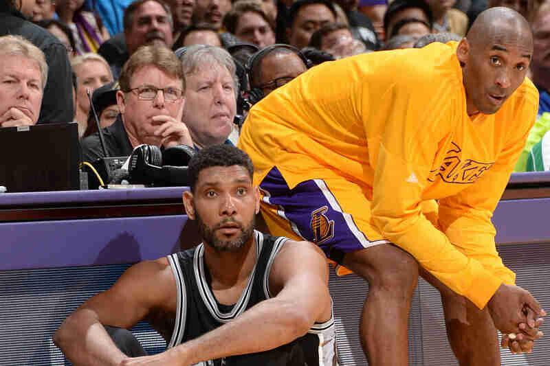 Tim Duncan y Kobe Bryant