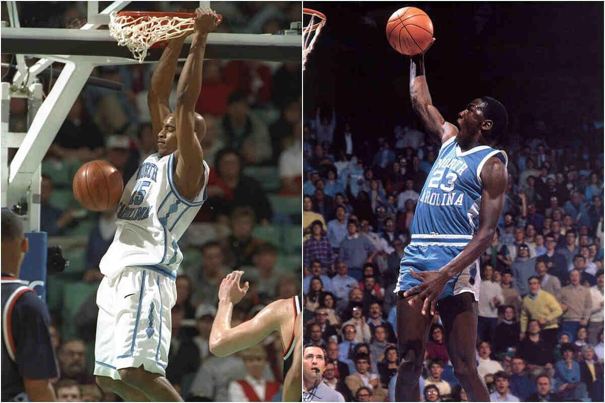 Michael Jordan y Vince Carter en la universidad