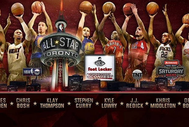 Participantes en el All-Star 2016 concurso triples