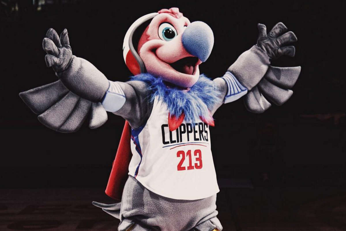 Chuck The Condor, la nueva mascota de Los Angeles Clippers