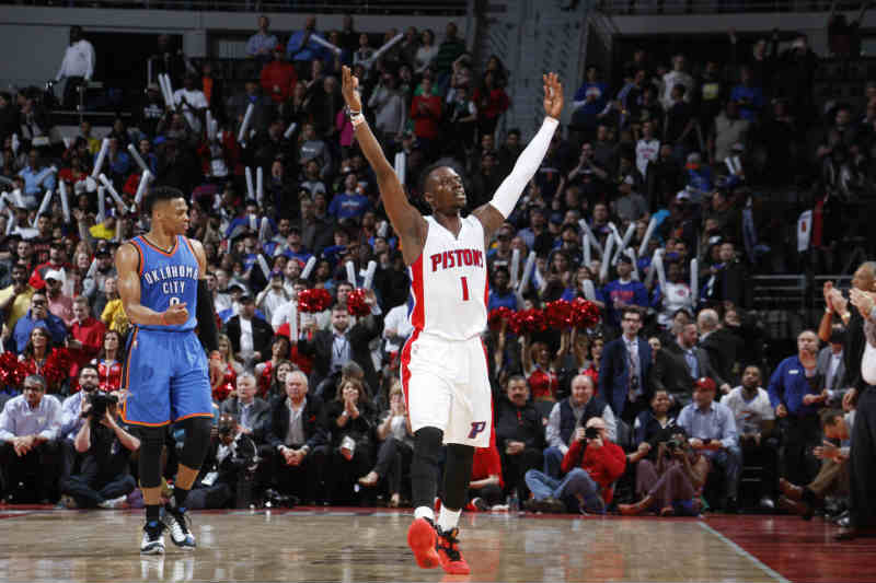 Detroit Pistons ante Oklahoma City Thunder
