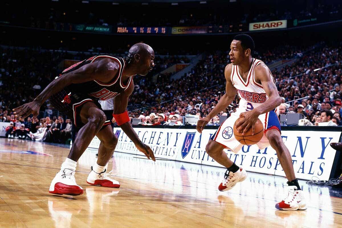Allen Iverson, rompiendo a Michael Jordan