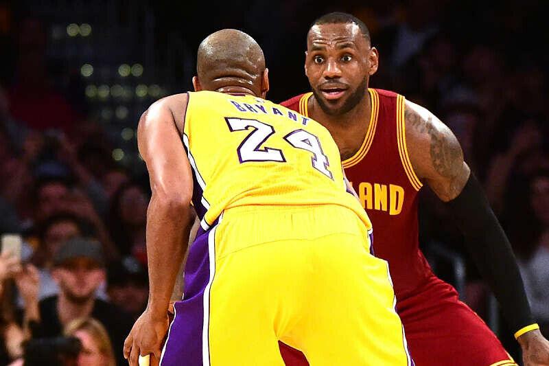 LeBron James y Kobe Bryant cara a cara