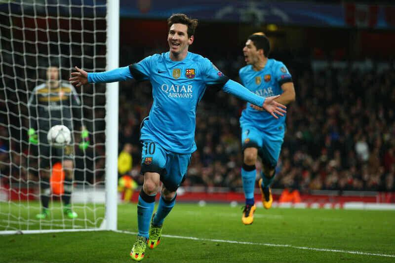Lionel Messi del Barcelona