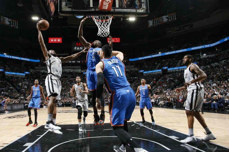 San Antonio Spurs contra Oklahoma City Thunder