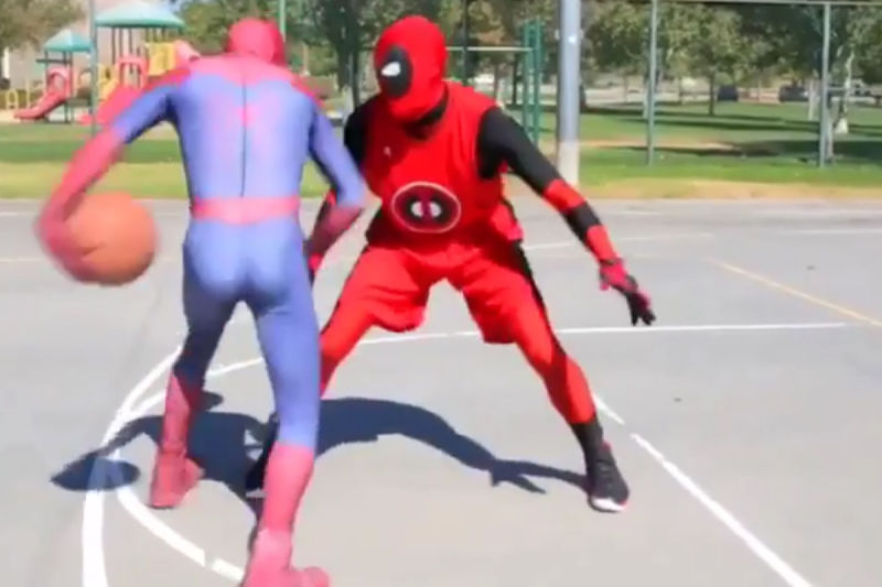 Spiderman vs. Deadpool, duelo de superhéroes