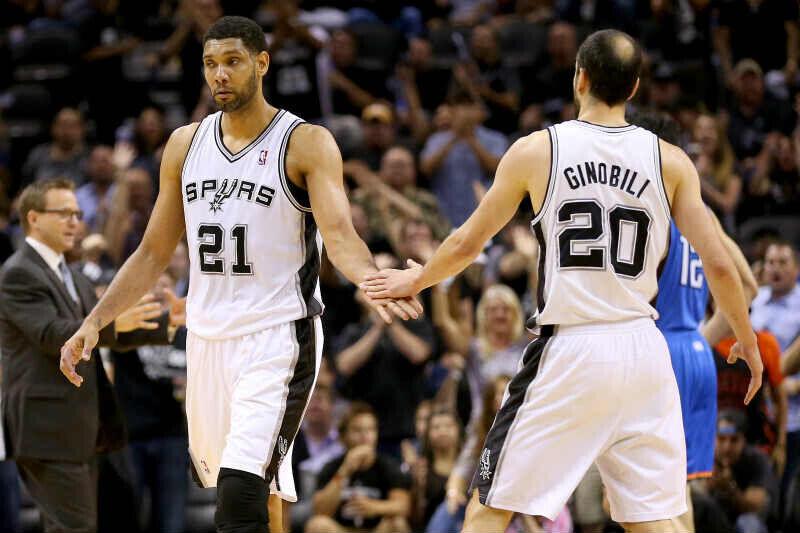 Tim Duncan-Manu Ginóbili de San Antonio Spurs