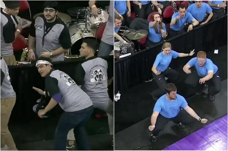 Bandas de la NCAA cara a cara en un duelo de baile