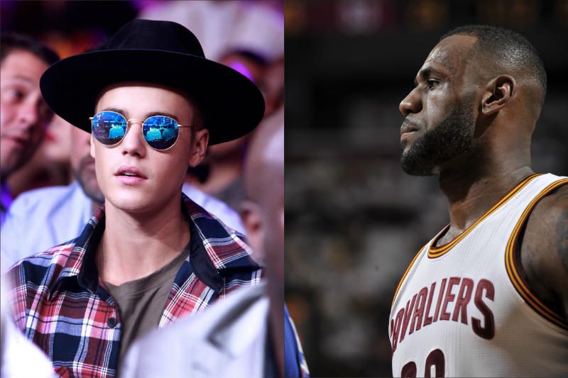 LeBron James, Justin Bieber