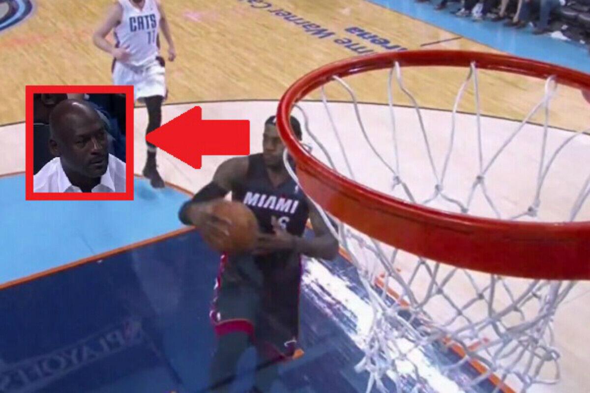 LeBron James desafía a Michael Jordan con la mirada