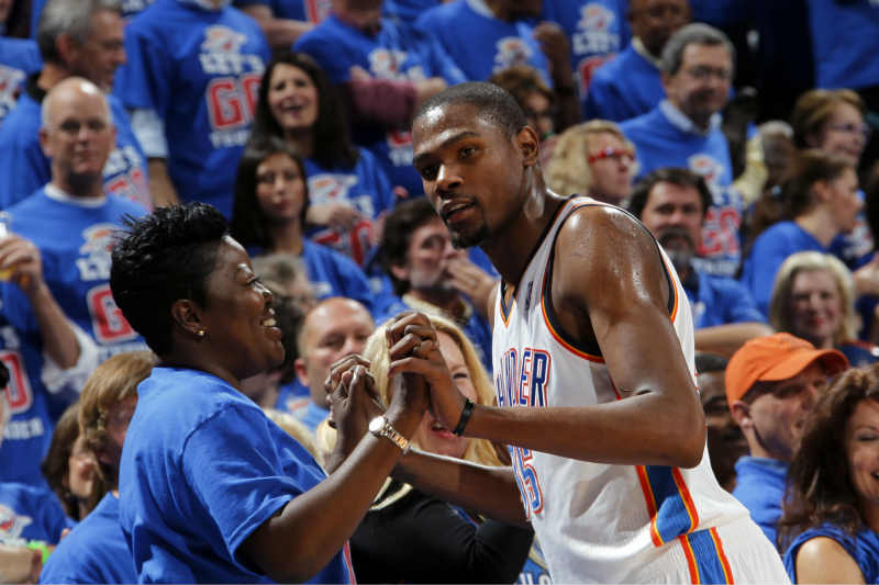 Madre Kevin Durant