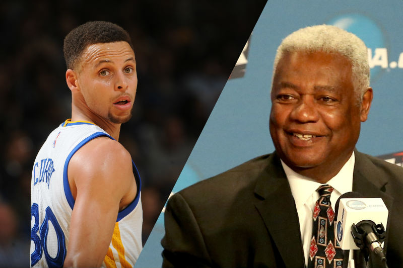 Oscar Robertson y Stephen Curry