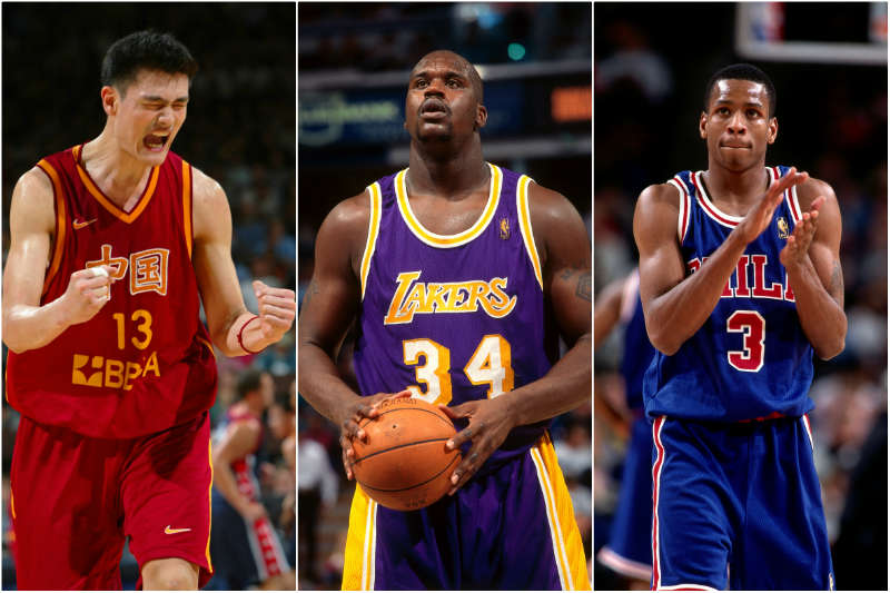 Shaquille, Iverson y Yao Ming