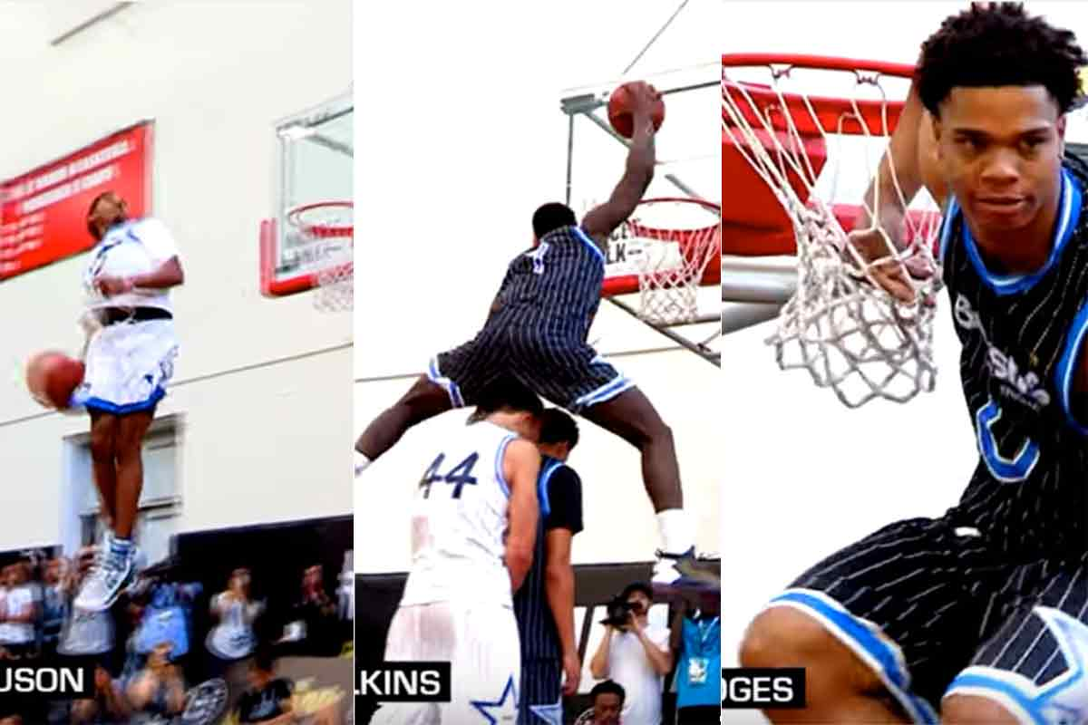 Muchísimo nivel en el Dunk Contest del High School