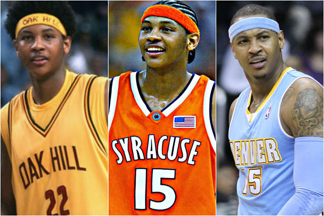 Carmelo Anthony, desde el insitutto a la NBA