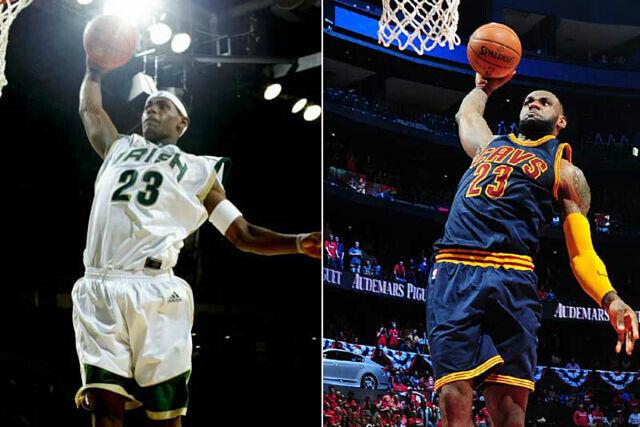 LeBron James, ayer y hoy