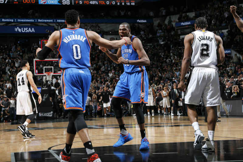 Russell westbrook - Kevin Durant