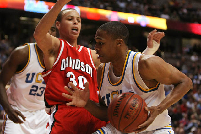 Stephen Curry y Russell Westbrook en la universidad