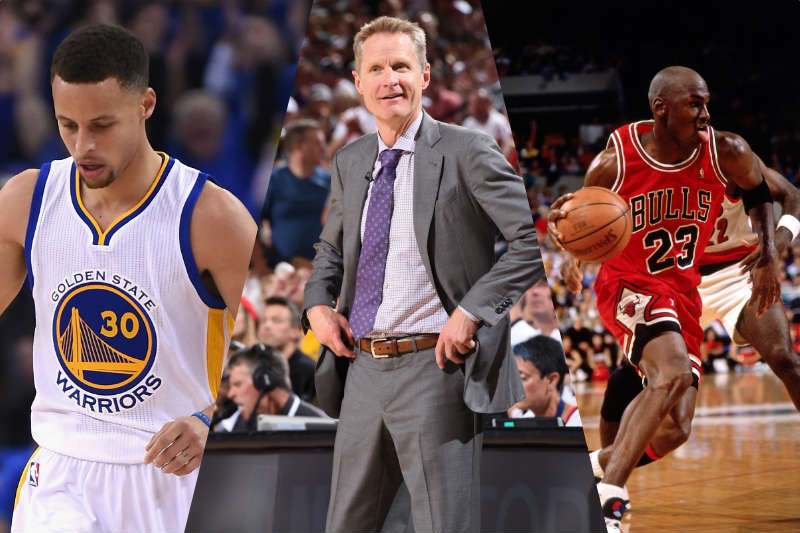 Stephen Curry, Steve Kerr, Michael Jordan
