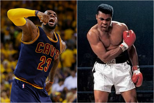 LeBron James y Muhammad Ali, dos estrellas del deporte