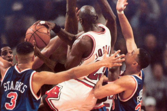 Michael Jordan ante New York Knicks