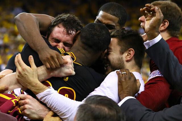 Cleveland Cavaliers celebra el título
