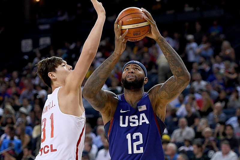DeMarcus Cousins jugando con el Team USA