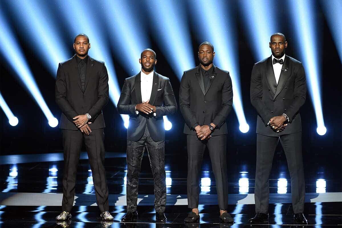 LeBron, Carmelo, Paul y Wade, en la gala de los premios ESPYS